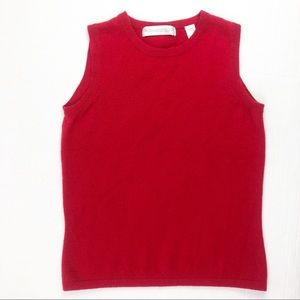 Red Cashmere Sweater Vest